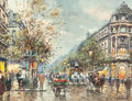 Paintings, ANTOINE BLANCHARD (French, 1910-1988). Grands Boulevard, Paris. Oil on canvas. 13 x 18 inches (33.0 x 45.7 cm). Signed l...