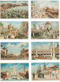 Advertising:Paper Items, Hold-to-Light Postcards: Coney Island.... (Total: 8 Items)