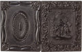 Photography:Tintypes, Early Photography: Cased Half Plate Tintype....