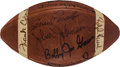 Football Collectibles:Balls, Late 1960's Football Greats Multi Signed Football - With Brian Piccolo!...
