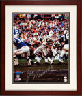 Football Collectibles:Photos, Circa 2000 Joe Namath Signed Large Photograph....