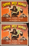 """Movie Posters:Horror, Captive Wild Woman (Universal, 1943). Title Lobby Cards (2), Lobby Cards (8) (11"""" X 14""""), & Ad. Horror.. ... (Total: 11 Items)"""