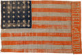 Political:Textile Display (pre-1896), James Garfield: Garfield & Arthur Parade Flag....