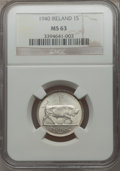 Ireland, Ireland: Ireland Shilling NGC certified pair,... (Total: 2 coins)