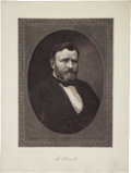 Political:3D & Other Display (pre-1896), Ulysses S. Grant: Large Marshall Engraving on Celluloid. ...