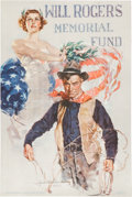 Advertising:Paper Items, Howard Chandler Christy: Will Rogers Poster....