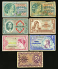 Military Payment Certificates:Series 521, $1 MPC Various Series Very Good or Better.. ... (Total: 7 notes)