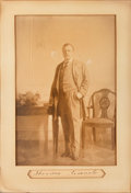 Autographs:Others, Circa 1909 President Theodore Roosevelt Signed Portrait Display....