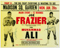 Boxing Collectibles:Autographs, 1974 Muhammad Ali and Joe Frazier Dual Signed Fight Poster. ...
