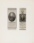 """Political:Memorial (1800-present), Zachary Taylor: Two """"Inauguration"""" Memorial Ribbons...."""