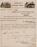 Ammunition, Advertising: Early Dupont Gunpowder Receipt....