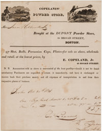 Advertising: Early Dupont Gunpowder Receipt