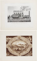Transportation:Railroad, Early Transportation: Railroad Label and Print.... (Total: 2 Items)