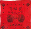 Political:Textile Display (pre-1896), Cleveland & Thurman: Turkey Red Jugate Bandanna....