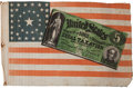 Political:Textile Display (pre-1896), Horatio Seymour: Choice Greenback Campaign Flag....