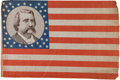 Political:Textile Display (pre-1896), John A. Logan: Vice Presidential Campaign Flag....
