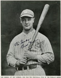 "Autographs:Others, Circa 1934 Lou Gehrig Signed ""Baseball Magazine"" Photograph...."