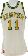 Basketball Collectibles:Uniforms, 1972-74 Wil Jones Game Worn Memphis Tams Jersey....