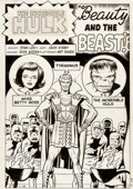 "Original Comic Art:Splash Pages, Jack Kirby and Dick Ayers Incredible Hulk #5 Tyrannus""Beauty and the Beast"" Splash Page 1 Original Art (Marvel, 1..."