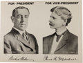 Political:Posters & Broadsides (1896-present), Wilson & Marshall: Jugate Poster....