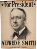 Political:Textile Display (1896-present), Al Smith: Large Headquarters or Convention Banner....