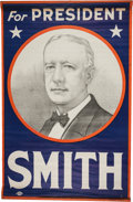 Political:Textile Display (1896-present), Al Smith: Large Colorful Headquarters Banner....