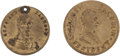Political:Tokens & Medals, Andrew Jackson: Pair of Gilt Brass Tokens.... (Total: 2 Items)