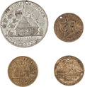 Political:Tokens & Medals, William Henry Harrison and Martin Van Buren: Four Tokens.... (Total: 4 Items)