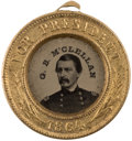 Political:Ferrotypes / Photo Badges (pre-1896), George McClellan: Back-to-Back Ferrotype Badge....