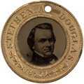 Political:Ferrotypes / Photo Badges (pre-1896), Stephen Douglas: Back-to-Back Ferrotype Badge....