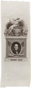 Political:Ribbons & Badges, Henry Clay: American System Silk Ribbon....
