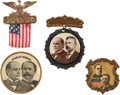 Political:Pinback Buttons (1896-present), William McKinley: Three Jugates.... (Total: 4 Items)