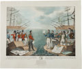 Political:Small Paper (1896-present), Andrew Jackson: Large 1836 Hand-Colored Cartoon....