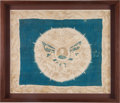 Political:Textile Display (pre-1896), William Henry Harrison: Beautiful Silk Portrait Bandanna....
