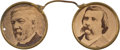 Political:Ferrotypes / Photo Badges (pre-1896), Blaine & Logan: Jugate Spectacles Novelty....
