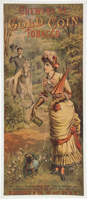 Vintage Advertising: Gold Coin Tobacco Chromolithograph Poster