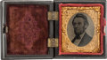 Political:Ferrotypes / Photo Badges (pre-1896), Abraham Lincoln: Cased Tintype....
