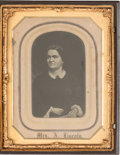Political:Ferrotypes / Photo Badges (pre-1896), [Abraham Lincoln]: Half Plate Tintype of Mary Todd Lincoln....