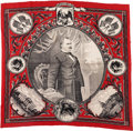 Political:Textile Display (pre-1896), Grover Cleveland: Highly Graphic Bandanna....