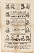 Political:Posters & Broadsides (1896-present), Abraham Lincoln: 1860 Campaign Advertisement Broadside....