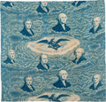 Political:Textile Display (pre-1896), John Quincy Adams: French Roller Fabric....