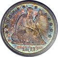 Seated Quarters, 1877-CC 25C MS67 PCGS. CAC. Briggs 3-C....