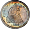 Seated Quarters, 1856 25C MS66 PCGS. CAC....