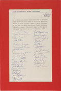 Autographs:Others, 1959 Ted Williams & Boston Red Sox Signed MLBPA Agreement....