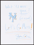 Mainstream Illustration, Stephen Collins. Doodle for Hunger. Crayon on paper. 9 x 12in.. Signed. ...