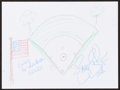 Mainstream Illustration, Jennie Finch. Doodle for Hunger. Crayon on paper. 9 x 12in.. Signed. ...