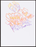 Mainstream Illustration, Peter Kienzle. Doodle for Hunger, 2009. Crayon on paper. 9 x12 in.. Signed. ...