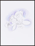 Mainstream Illustration, Lynn Johnston. Doodle for Hunger, 2004. Colored pencil onpaper. 9 x 12 in.. Signed. ...