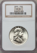 Franklin Half Dollars: , 1959 50C MS65 NGC. NGC Census: (1495/48). PCGS Population (761/28).Mintage: 6,200,000. Numismedia Wsl. Price for problem f...