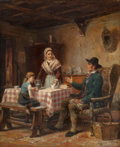 Fine Art - Painting, European:Antique  (Pre 1900), CORNEILLE PETIT (Belgian, 19th Century). Return from theMarket. Oil on canvas. 22-3/4 x 18 inches (57.8 x 45.7 cm).Sig...
